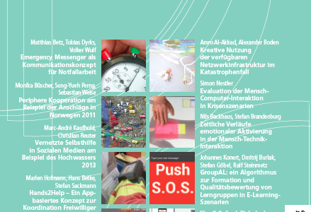 """i-com: Special Isssue """"Interaktion und Kooperation im Krisenmanagement"""""""