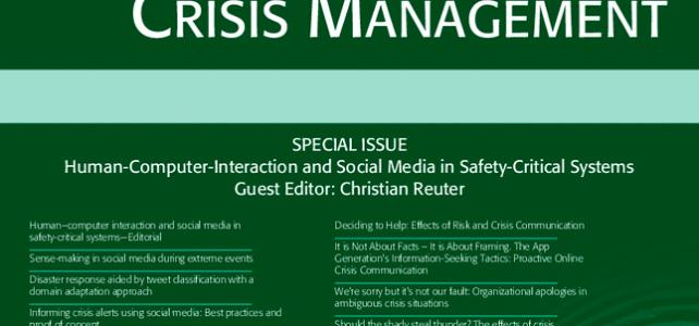 Special Issue zu Mensch-Computer-Interaction und sozialen Medien in Sicherheitslagen erschienen