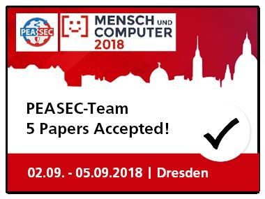 Mensch und Computer 2018  –  PEASEC stellt 5 Paper vor