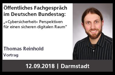 """PEASEC-Vortrag im Deutschen Bundestag zu """"Cybersicherheit – Perspektiven für einen sicheren digitalen Raum"""""""