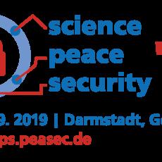 """Konferenz zur naturwissenschaftlich-technischen Friedensforschung """"SCIENCE · PEACE · SECURITY '19"""" in Darmstadt"""