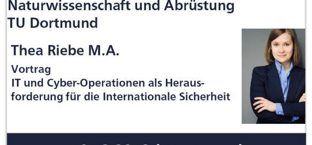 """Vortrag im Arbeitskreis """"Naturwissenschaft und Abrüstung"""" der TU Dortmund"""