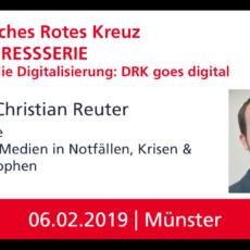 """Keynote von Prof. Reuter im Kongress """"Fit für die Digitalisierung – DRK goes digital"""" des Deutschen Roten Kreuz"""