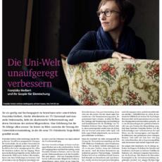 Die Uni-Welt unaufgeregt verbessern – Artikel über unsere Doktorandin Franziska Herbert
