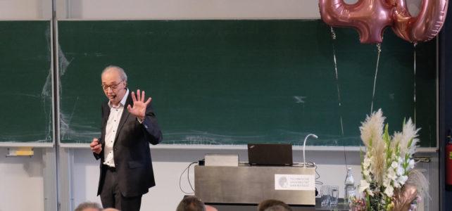 Ein überfüllter Hörsaal wie im ersten Semester – Abschiedsvorlesung von Prof. Johannes Buchmann