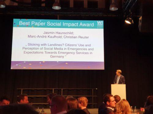 Best Paper Social Impact Award