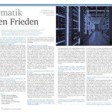 Interview in hoch3FORSCHEN: Informatik für den Frieden – Forschung an der Schnittstelle zwischen Informatik und Friedens- und Konfliktforschung