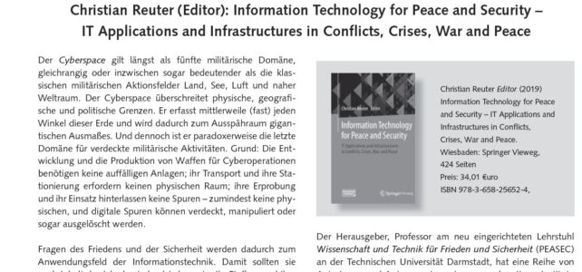 Rezension zu Information Technology for Peace and Security in FIfF-Kommunkation erschienen