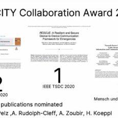 PEASEC 2x erfolgreich beim emergenCITY Collaboration Award 2020
