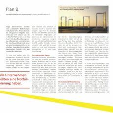 Plan B: Business Coninuity Management – Kurz-Interview mit Prof. Reuter in Handelsblatt-Beilage