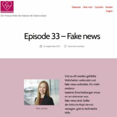 Datenaffaire: Der Podcast hinter den Kulissen der Datenanalyse – Episode 33: Fake News – mit PEASEC-WiMi Katrin Hartwig